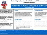 Advertentie Conrector Albert Schweitzer HAVO-VWO feb 2016