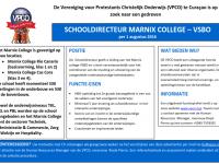 Advertentie Schooldirecteur Marnix College VSBO 15022016